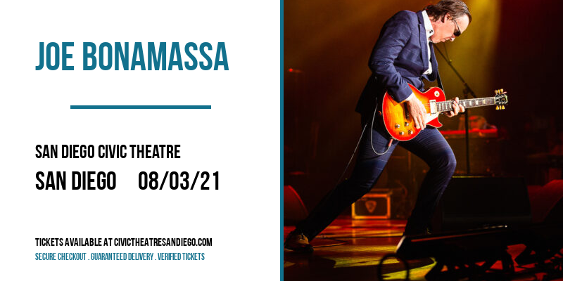 Joe Bonamassa at San Diego Civic Theatre