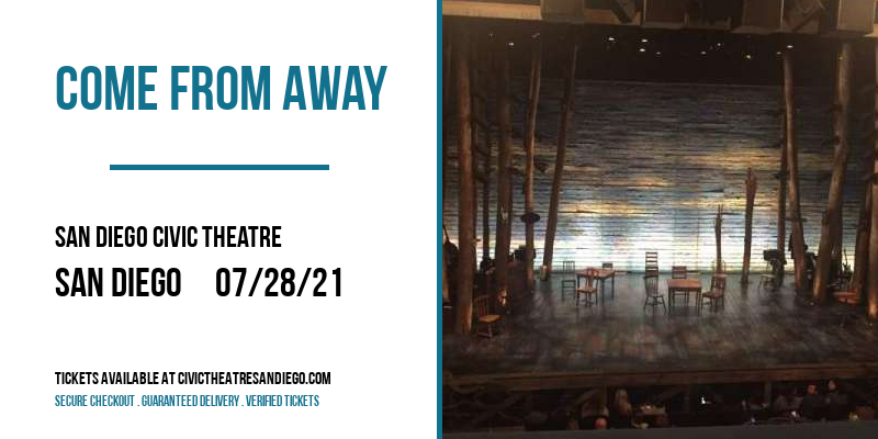Come From Away at San Diego Civic Theatre