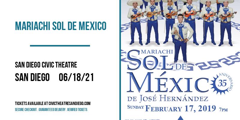 Mariachi Sol de Mexico [CANCELLED] at San Diego Civic Theatre